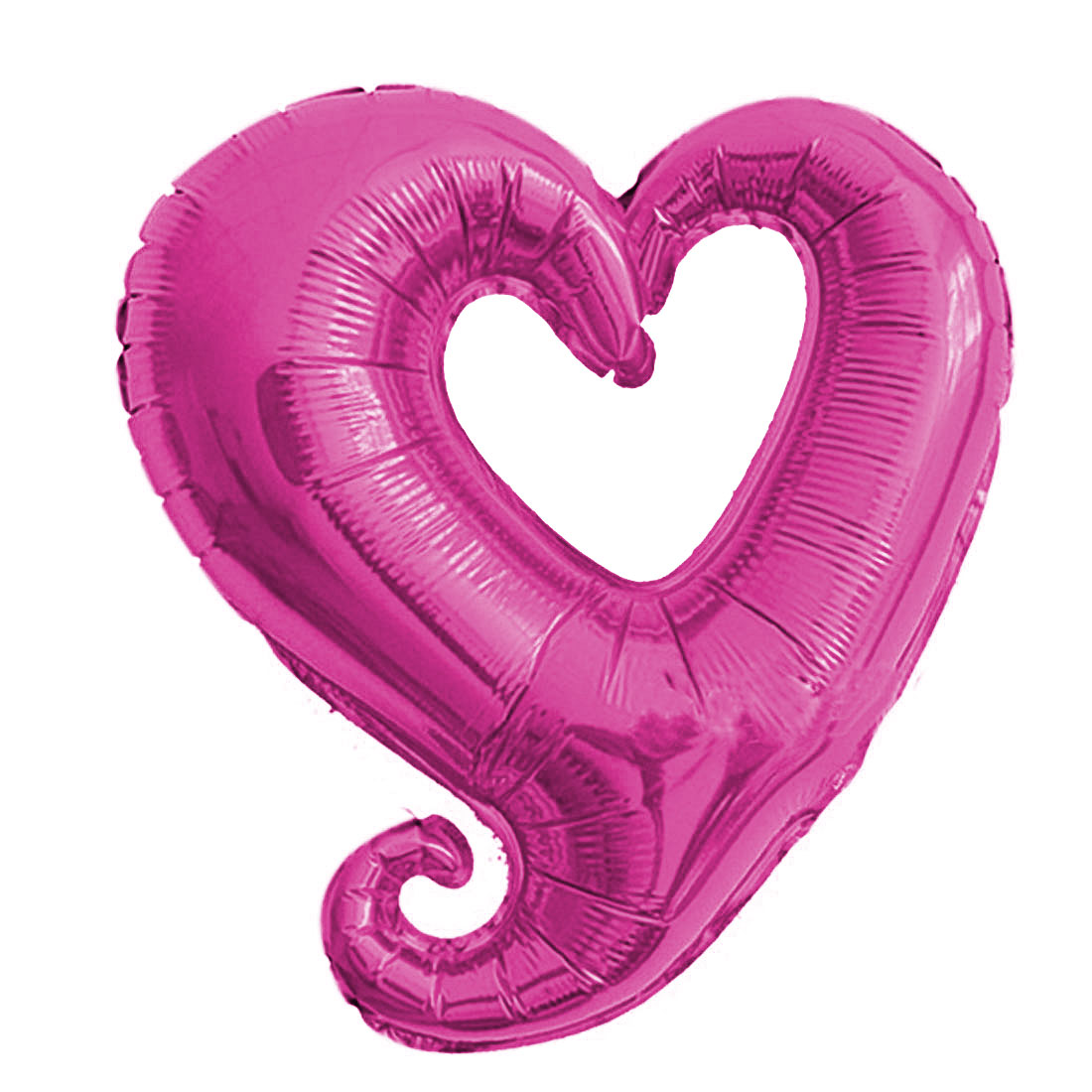 Foil Heart Design Inflation Balloon Wedding Party Celebration Decor Fuchsia 14.6 Inch