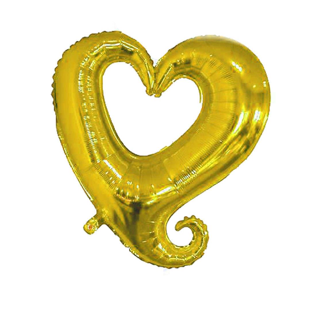 Foil Heart Design Inflation Balloon Wedding Party Celebration Decor Gold Tone 14.6 Inch