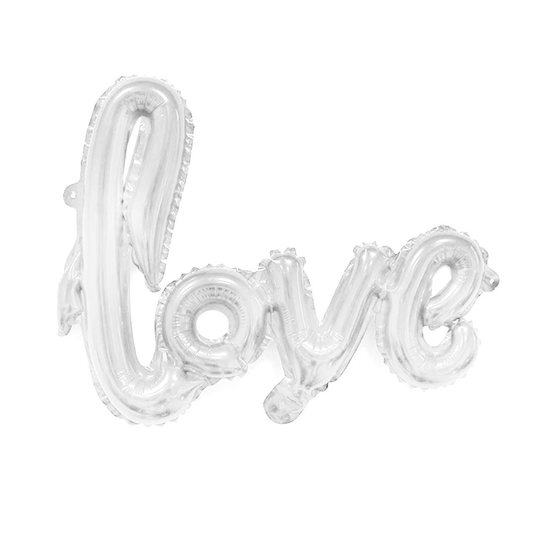 Home Foil LOVE Shaped Inflation Balloon Wedding Party Celebration Decor Silver Tone 30""