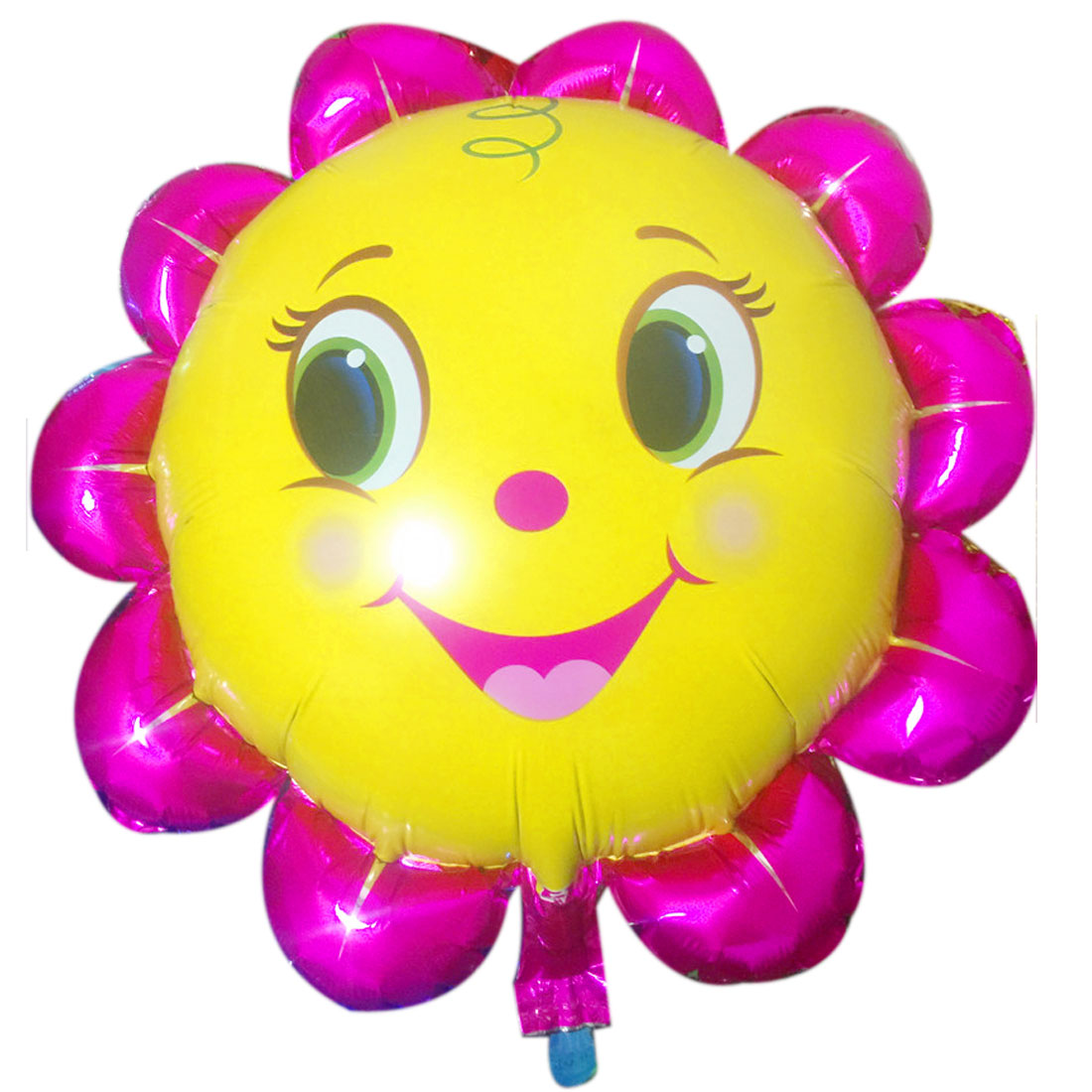 Festival Party Decor Foil Flower Shape Inflation Helium Balloon Yellow 15.7 Inch