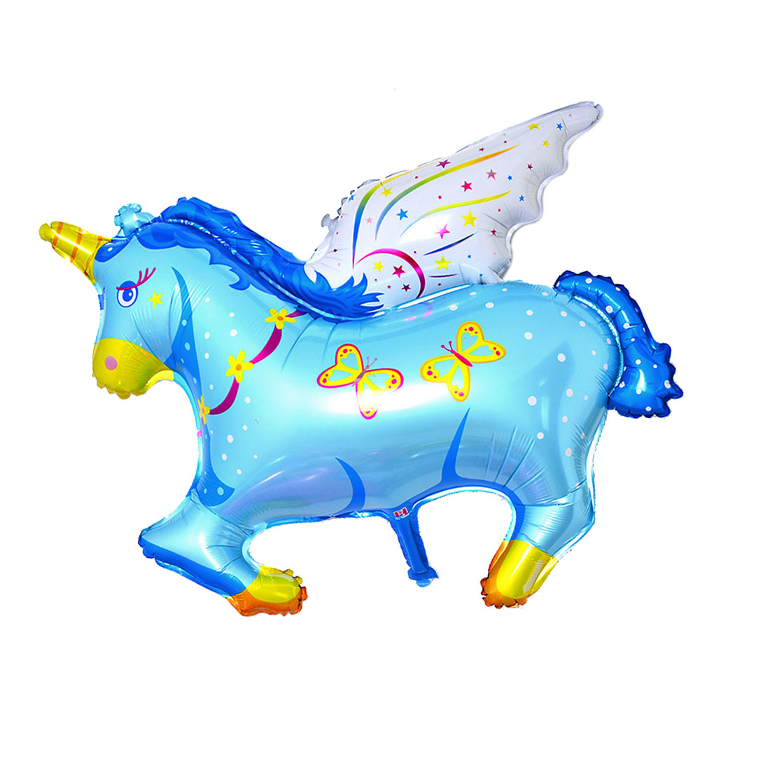 Wedding Party Ornament Foil Horse Design Inflation Helium Balloon Blue 14.6 Inch