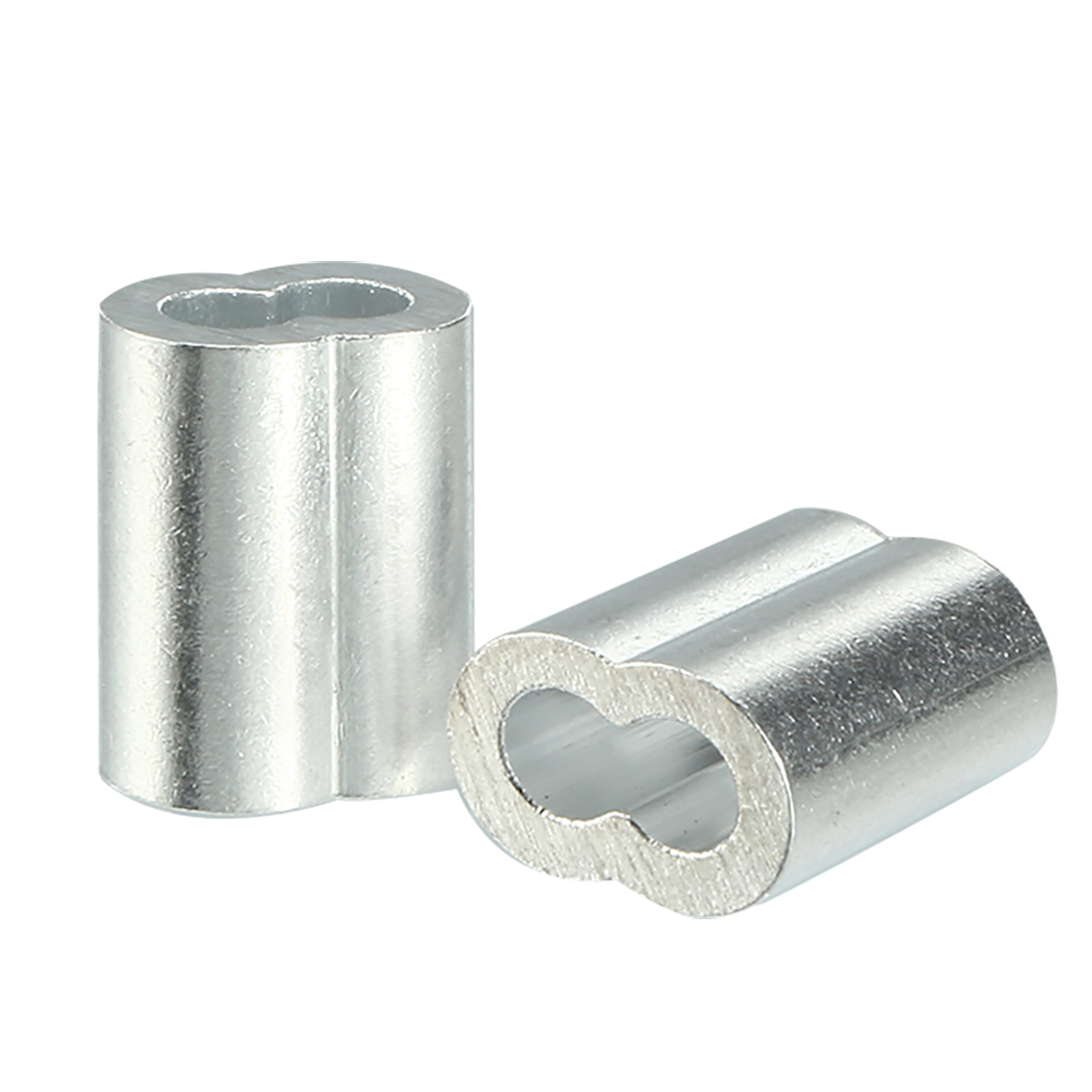 2mm 5/64-inch Cable Wire Rope Aluminum Sleeves Clip Crimping Loop 100pcs