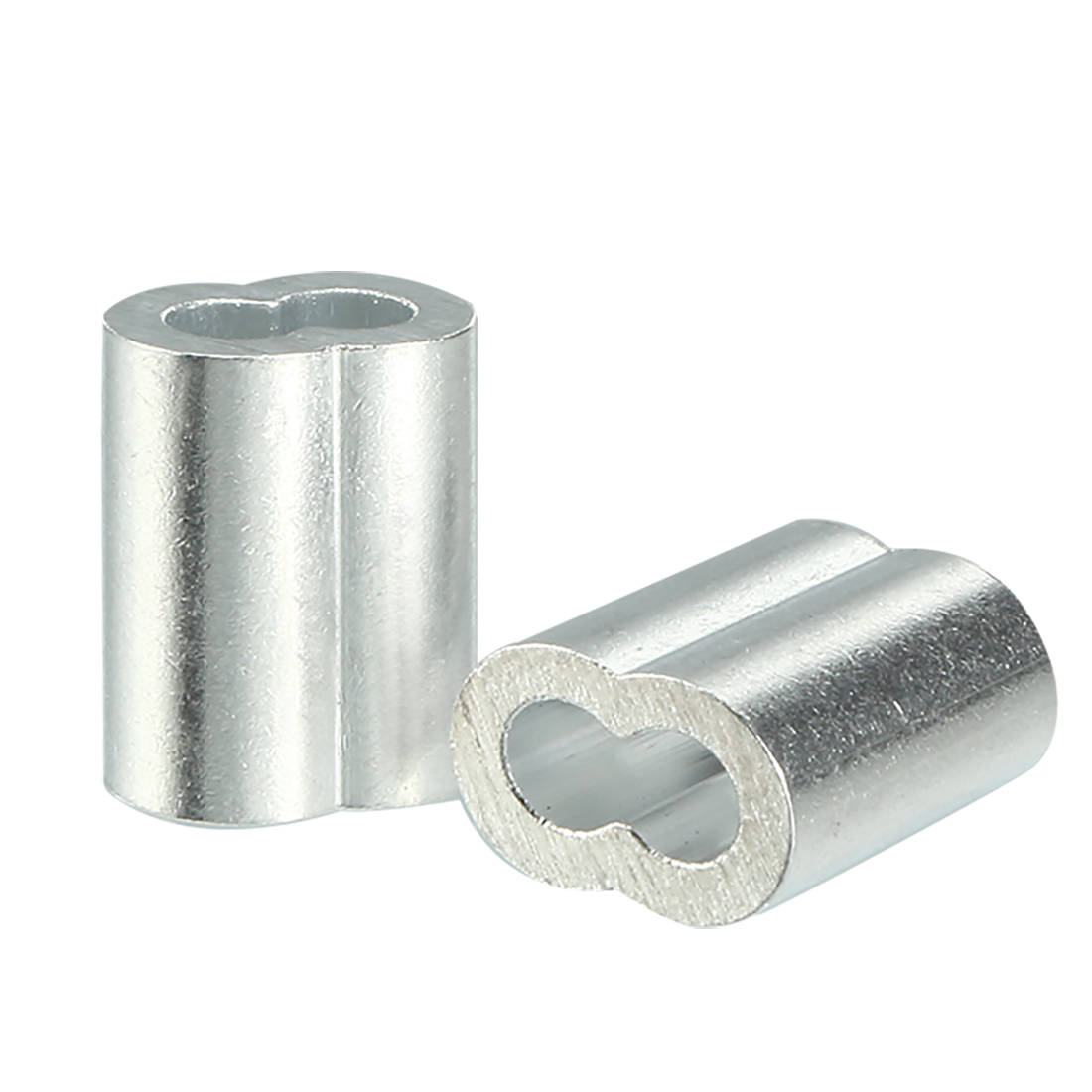2.5mm Cable Wire Rope Aluminum Sleeves Clip Crimping Loop 100pcs