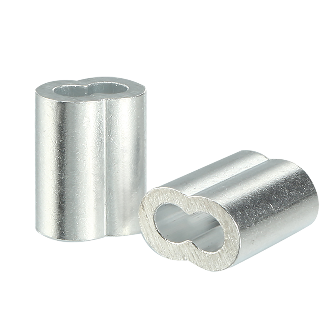 4mm 5/32-inch Cable Wire Rope Aluminum Sleeves Clip Crimping Loop 50pcs