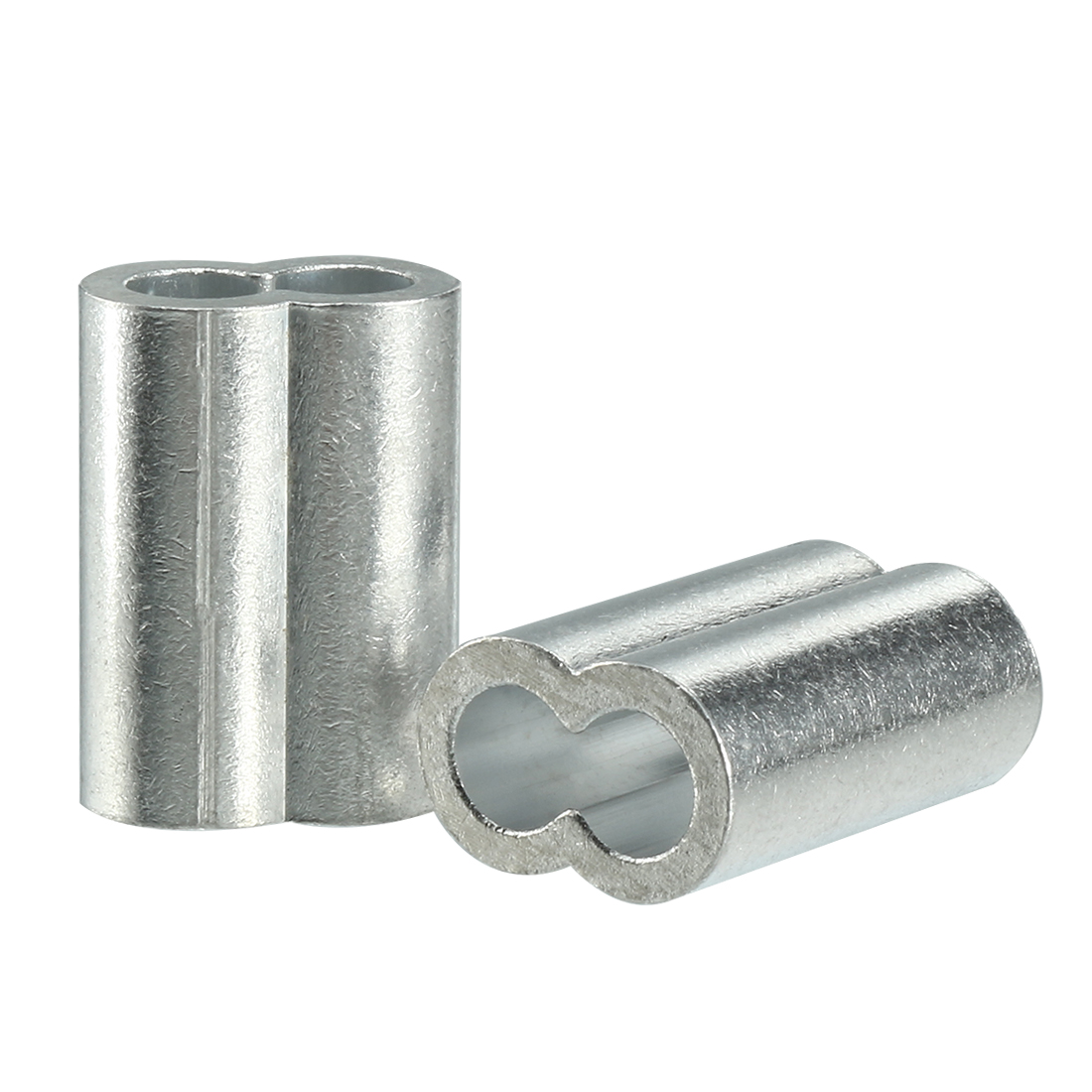 5mm 1/5-inch Cable Wire Rope Aluminum Sleeves Clip Crimping Loop 50pcs