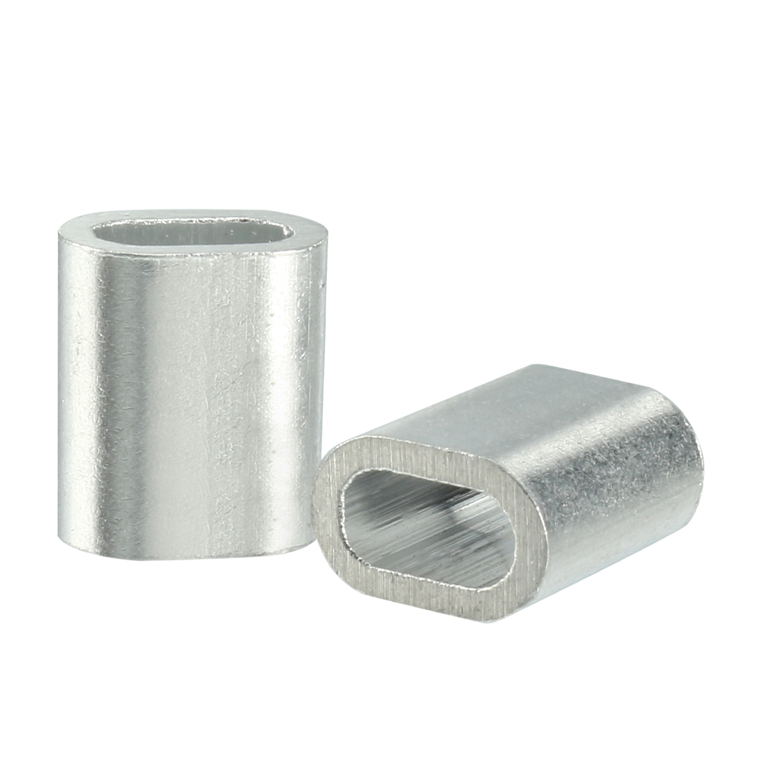 1mm 5/128-inch Cable Wire Rope Aluminum Sleeves Clip Fittings Crimps Loop 50pcs