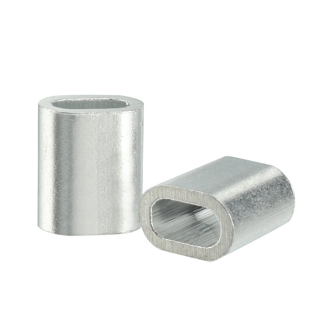 2mm 5/64-inch Cable Wire Rope Aluminum Sleeves Clip Fittings Crimps Loop 100pcs
