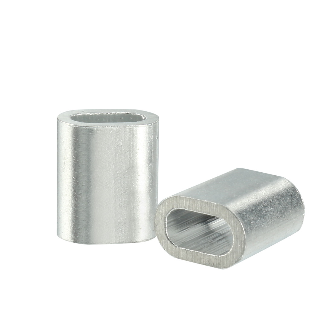 2.5mm Cable Wire Rope Aluminum Sleeves Clip Fittings Crimps Loop 50pcs