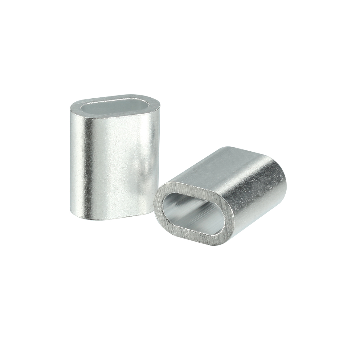 3mm 1/8-inch Cable Wire Rope Aluminum Sleeves Clip Fittings Crimps Loop 100pcs