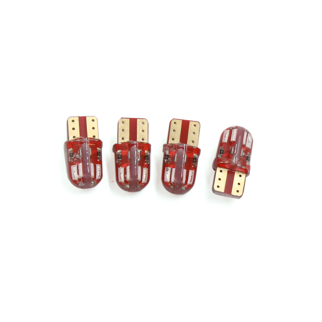 4Pcs T10 Red 8 4014-SMD LED Car Panel Wedge Light Interior W5W 2825 158 192 194