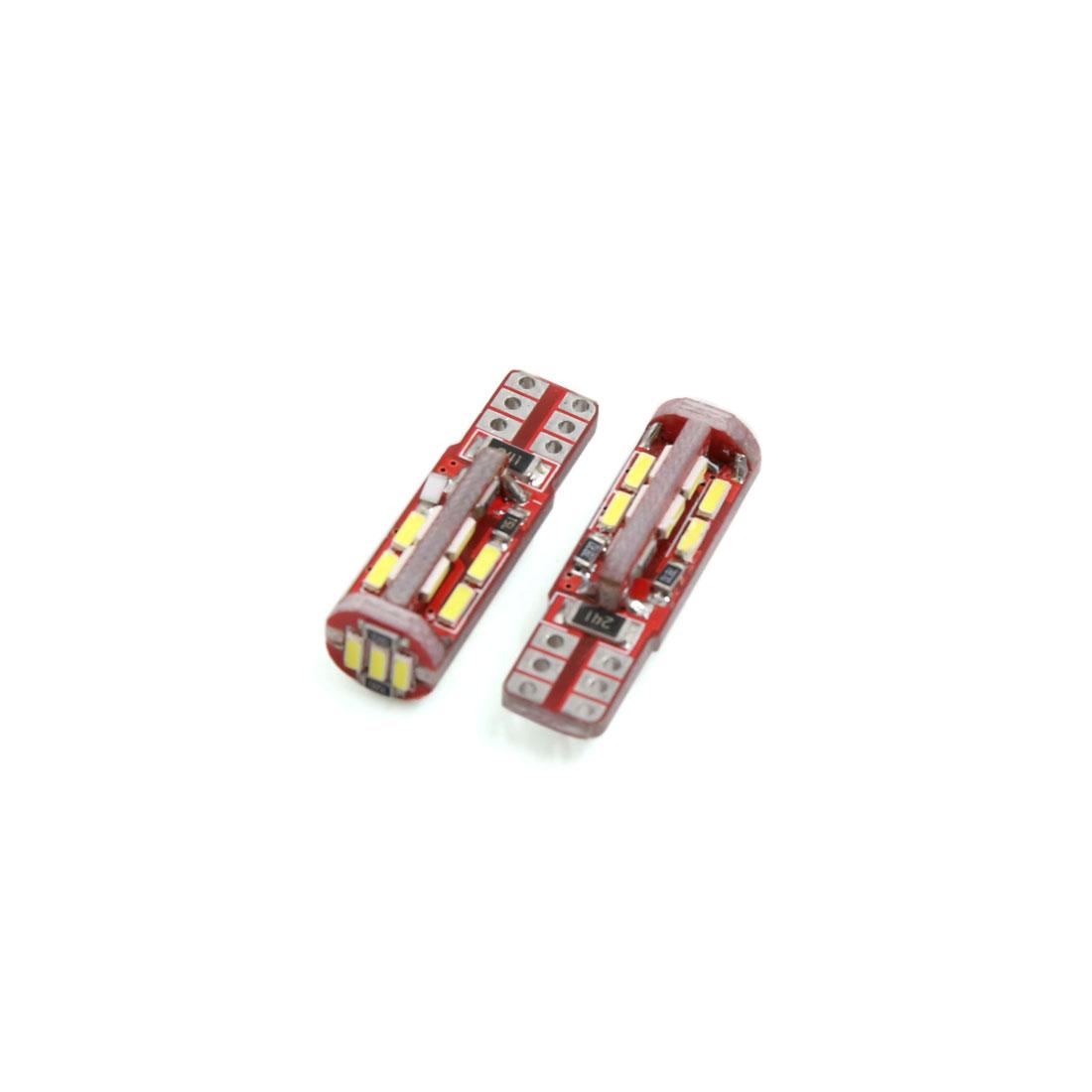 2Pcs T10 White 19 4010-SMD LED Car Panel Light Interior W5W 2825 158 192 194
