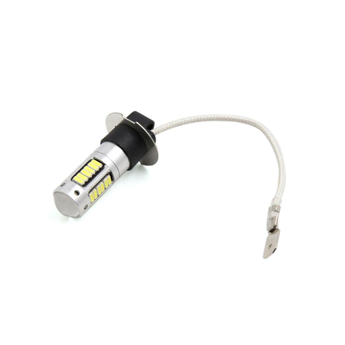 H3 White 30 SMD LED Lens Foglight Headlight Driving Light Lamp Bulb for Car