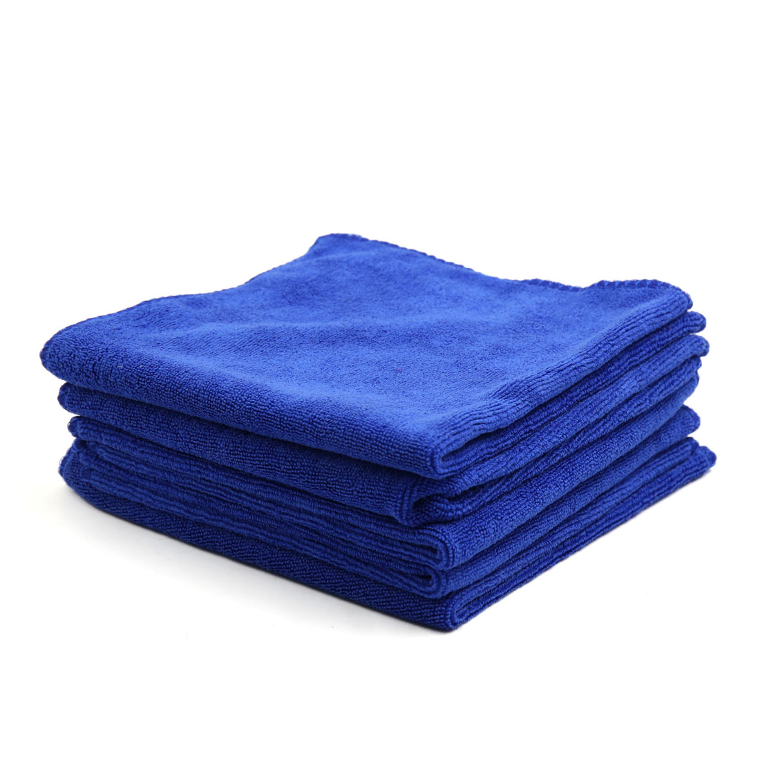 5pcs 400GSM 33 x 33cm Blue Microfiber Polishing Cleaning Towel for Car Home