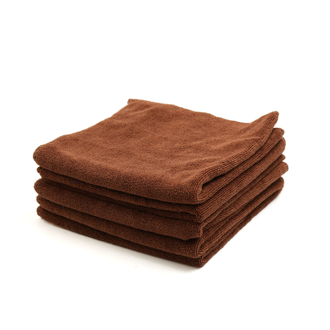5pcs 400GSM 33 x 33cm Coffee Color Microfiber Polishing Cleaning Towel for Car Home