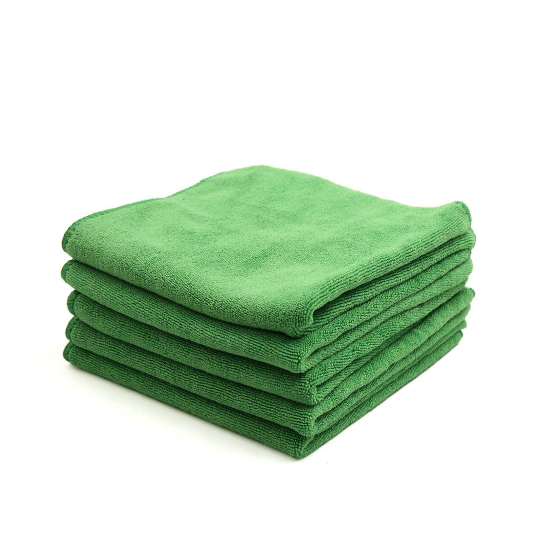 5pcs 400GSM 33 x 33cm Green Microfiber Polishing Cleaning Towel for Car Home