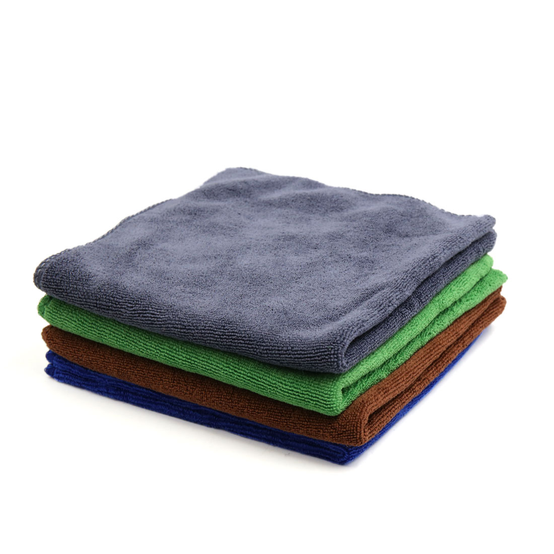 4pcs 400GSM 33 x 33cm Multicolor Microfiber Polishing Cleaning Towel for Car Home