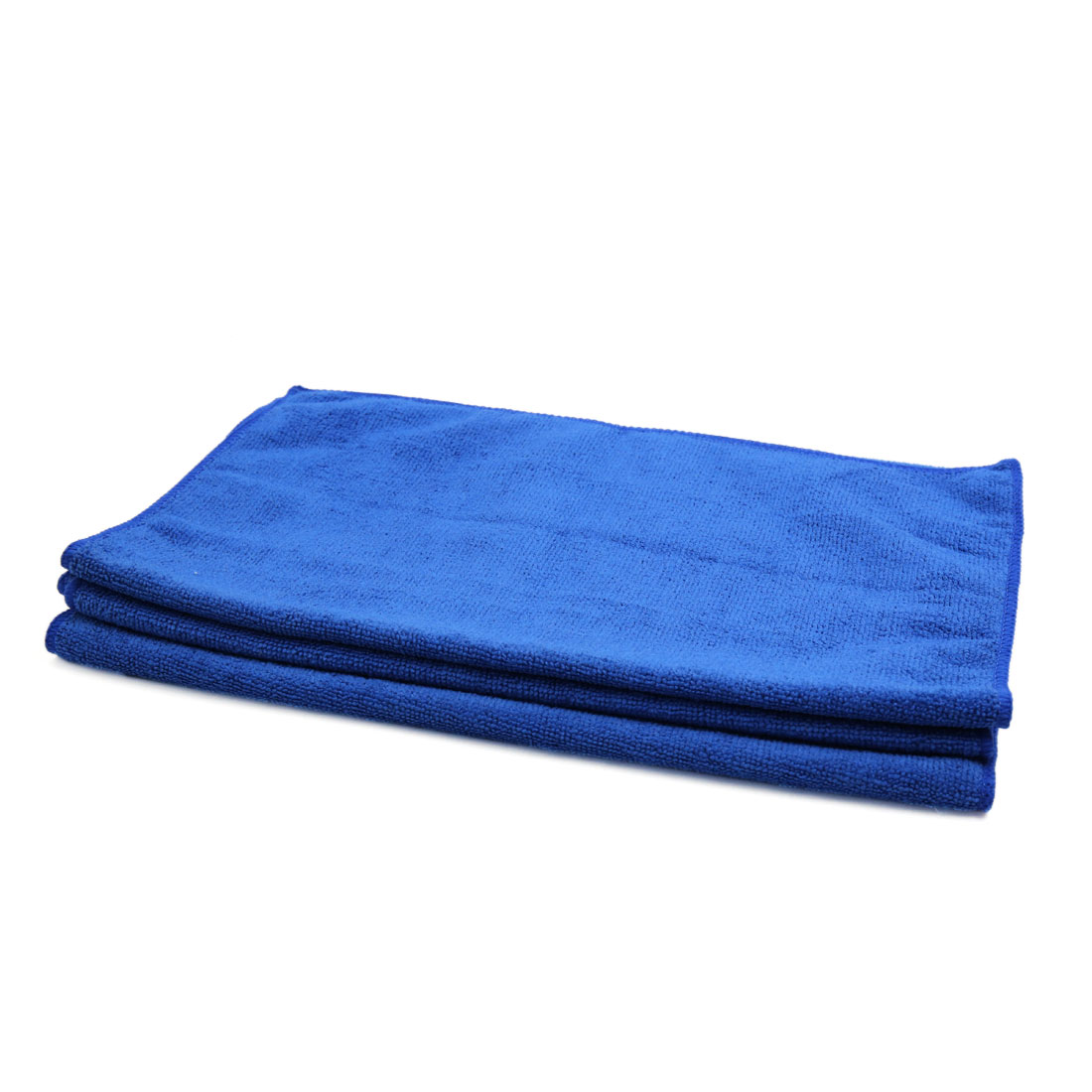 3pcs 300gsm 65 x 33cm Dark Blue Water Absorbing Microfiber Car Cleaning Towel