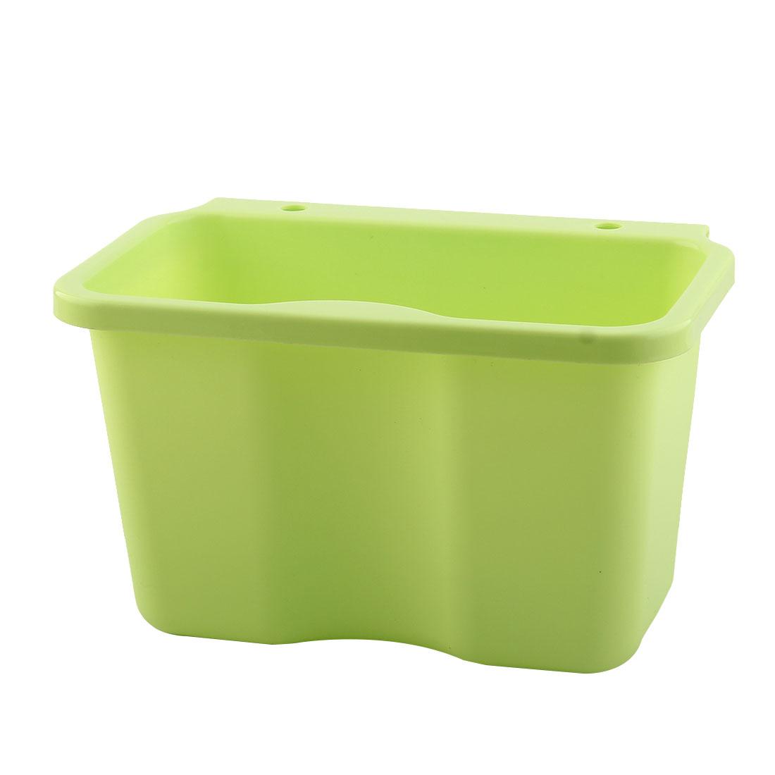 Kitchenware Plastic Rectangle Hanging Sundries Rubbish Storage Box Basket Green