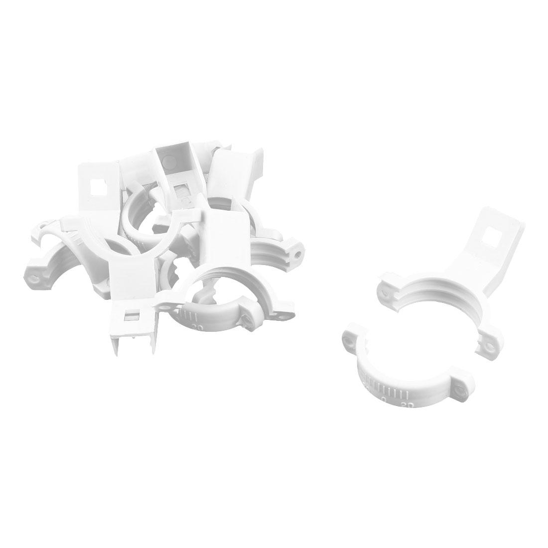 Plastic Single Dish LNB Bracket Holder Mount 40mm Dia White 6 Pcs for Ku Band