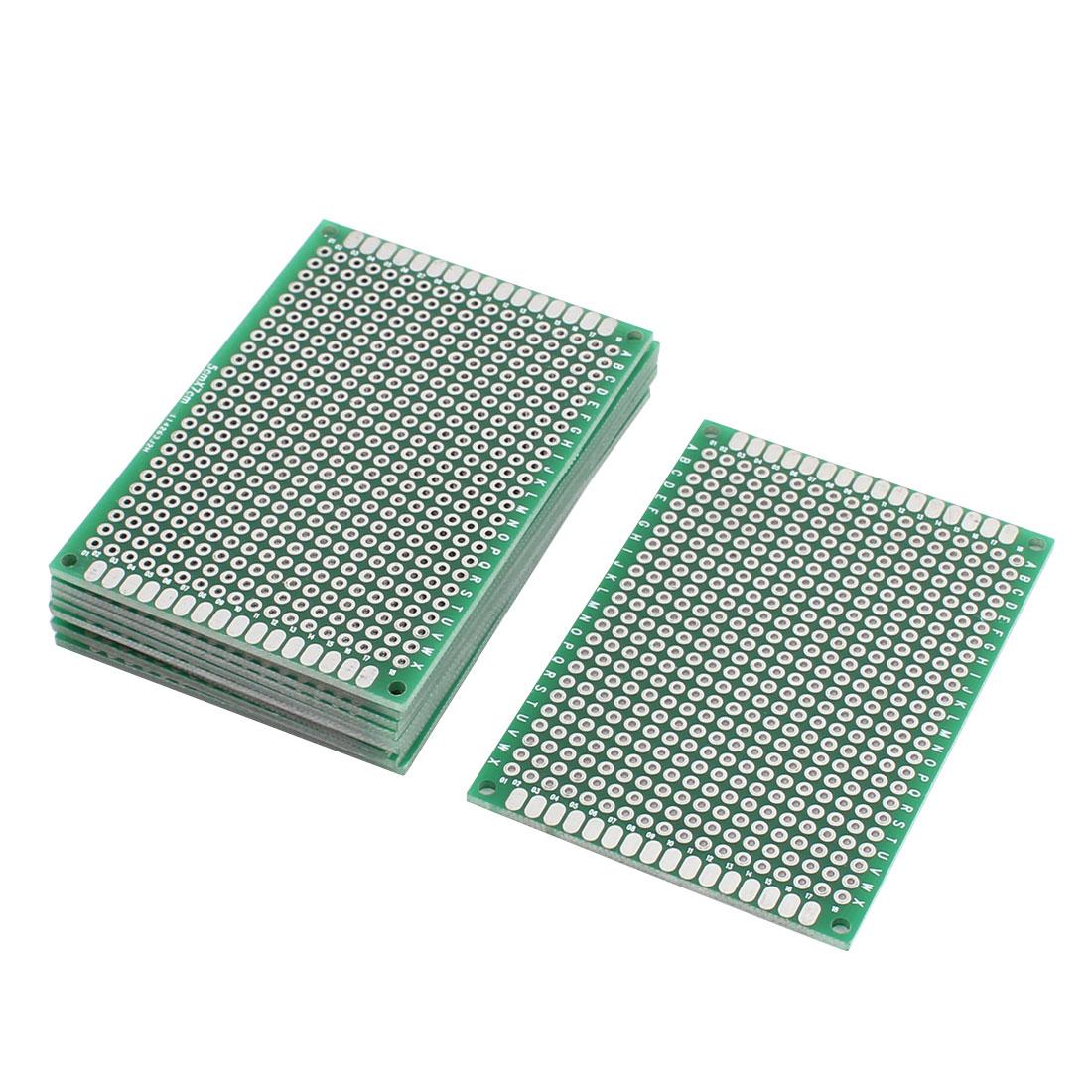 10Pcs Double-Side Prototype Solderable Paper Universal PCB Board 5cmx7cm