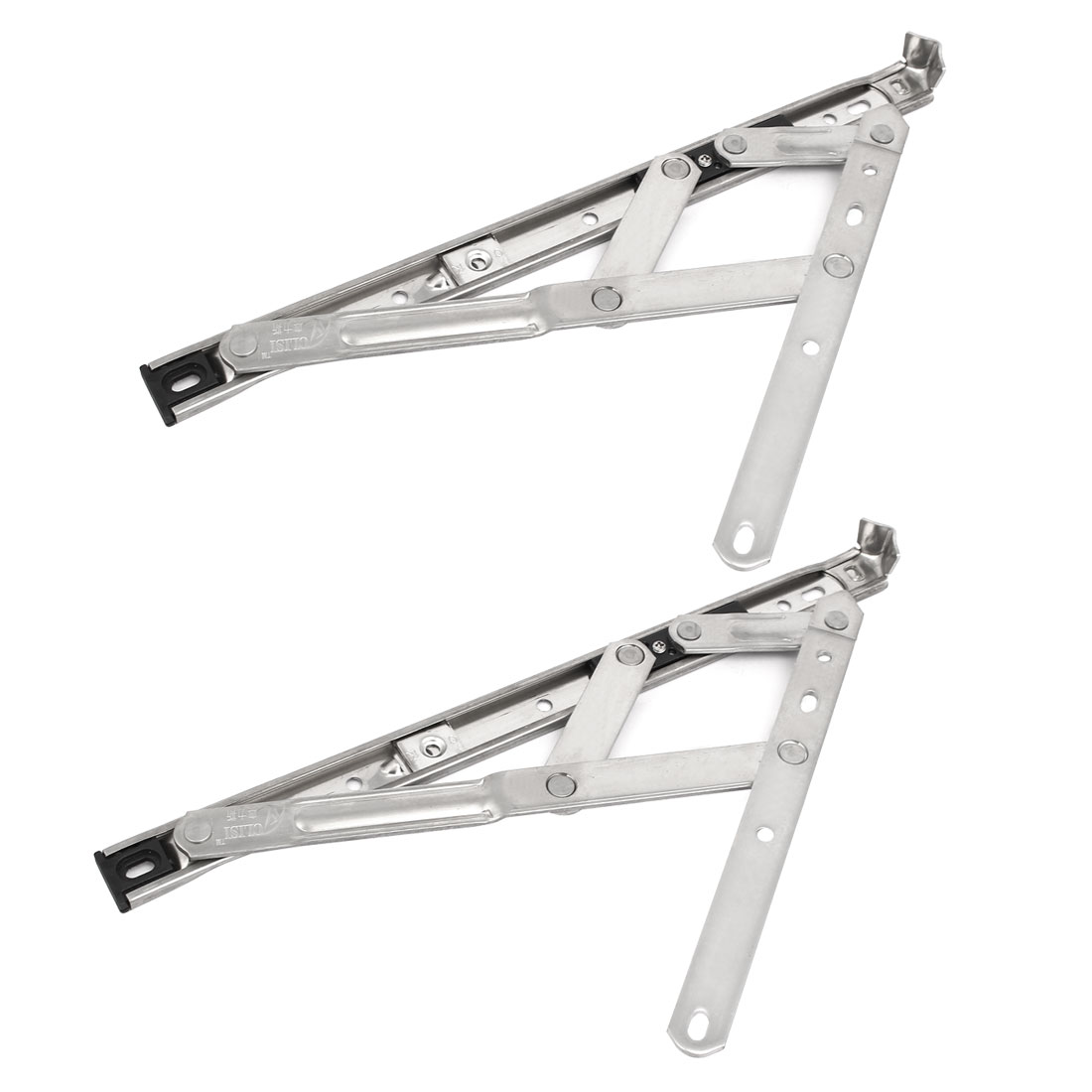 12-inch 202 Stainless Steel Foldable Casement Window Friction Hinge 4 Bar 2pcs