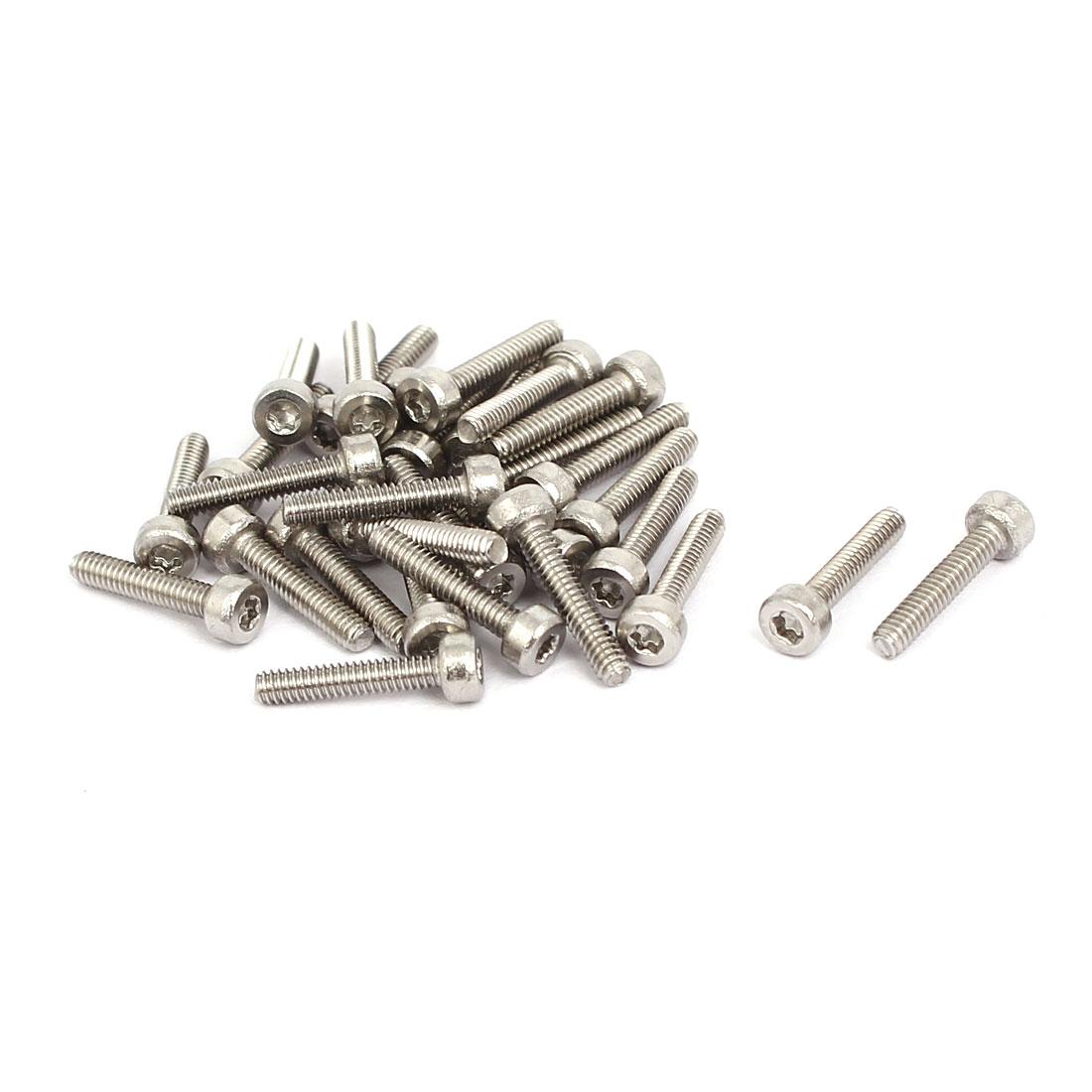 M2x10mm 304 Stainless Steel Torx Socket Head Cap Screws Fasteners 30pcs
