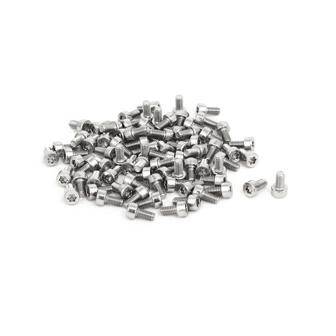 M2.5x5mm T8 Torx Drive 304 Stainless Steel Torx Socket Head Cap Screw 80pcs