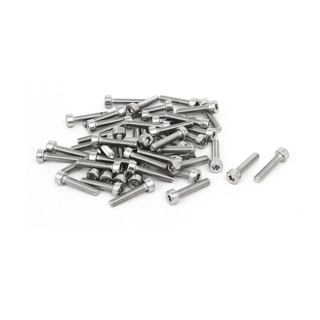 M3x15m Thread T10 Torx Drive 304 Stainless Steel Torx Socket Cap Screw 50pcs