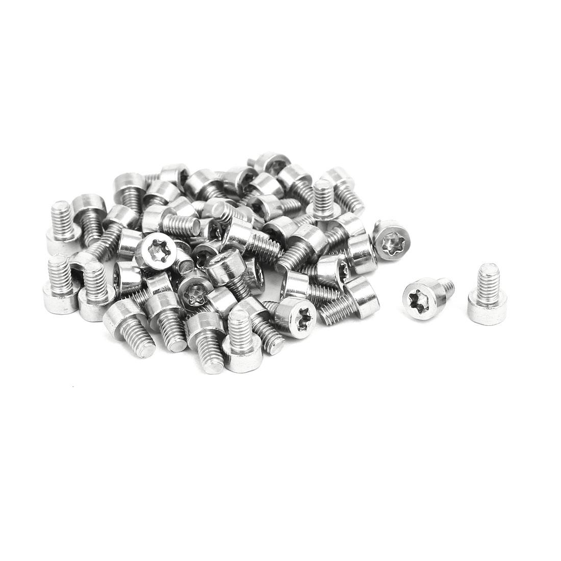 M4x6m Thread T20 Torx Drive 304 Stainless Steel Torx Socket Cap Screw 50pcs