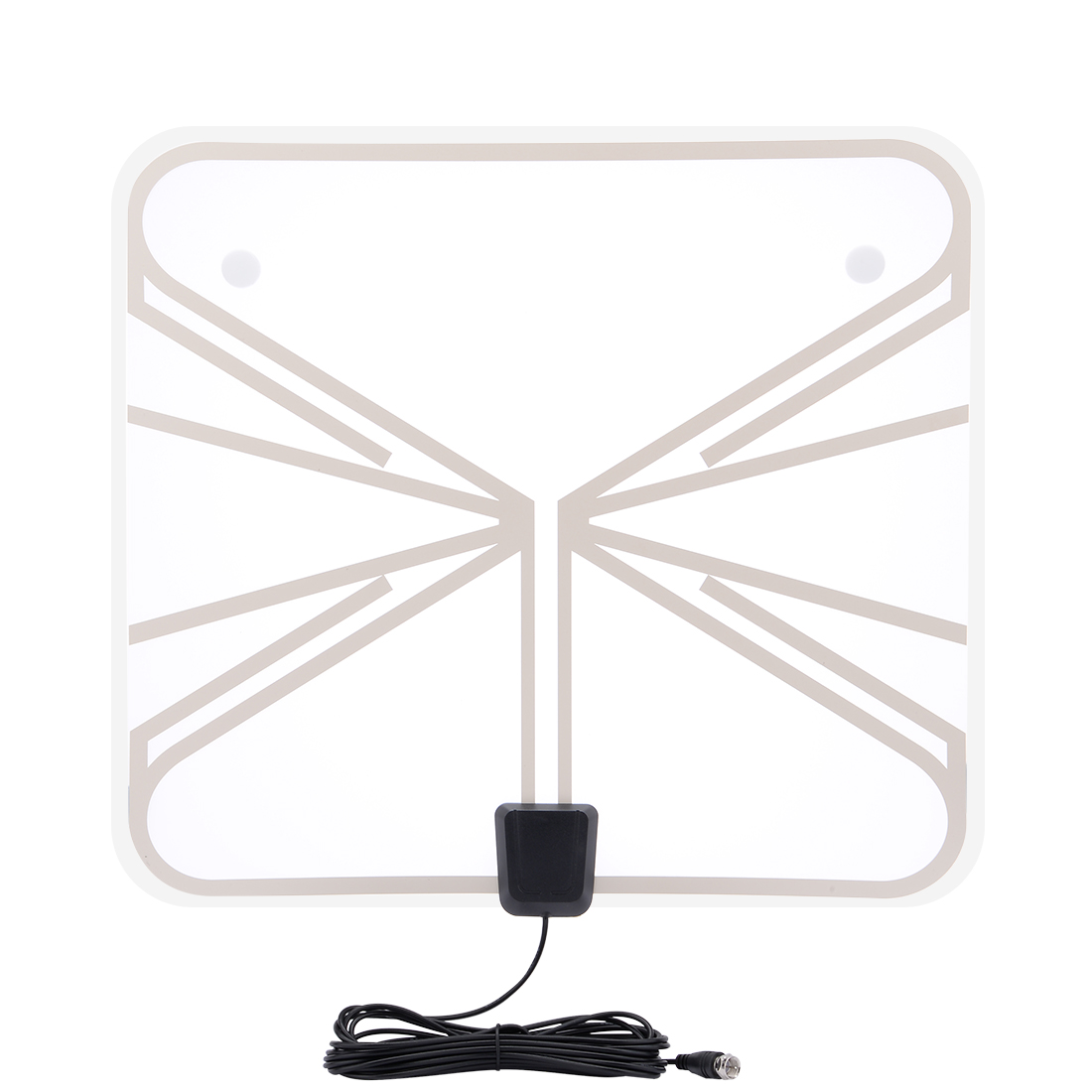 Indoor Home HDTV Aerial 50 Miles Range Amplified HDTV Antenna with Power Supply Amplifier(US Plug)