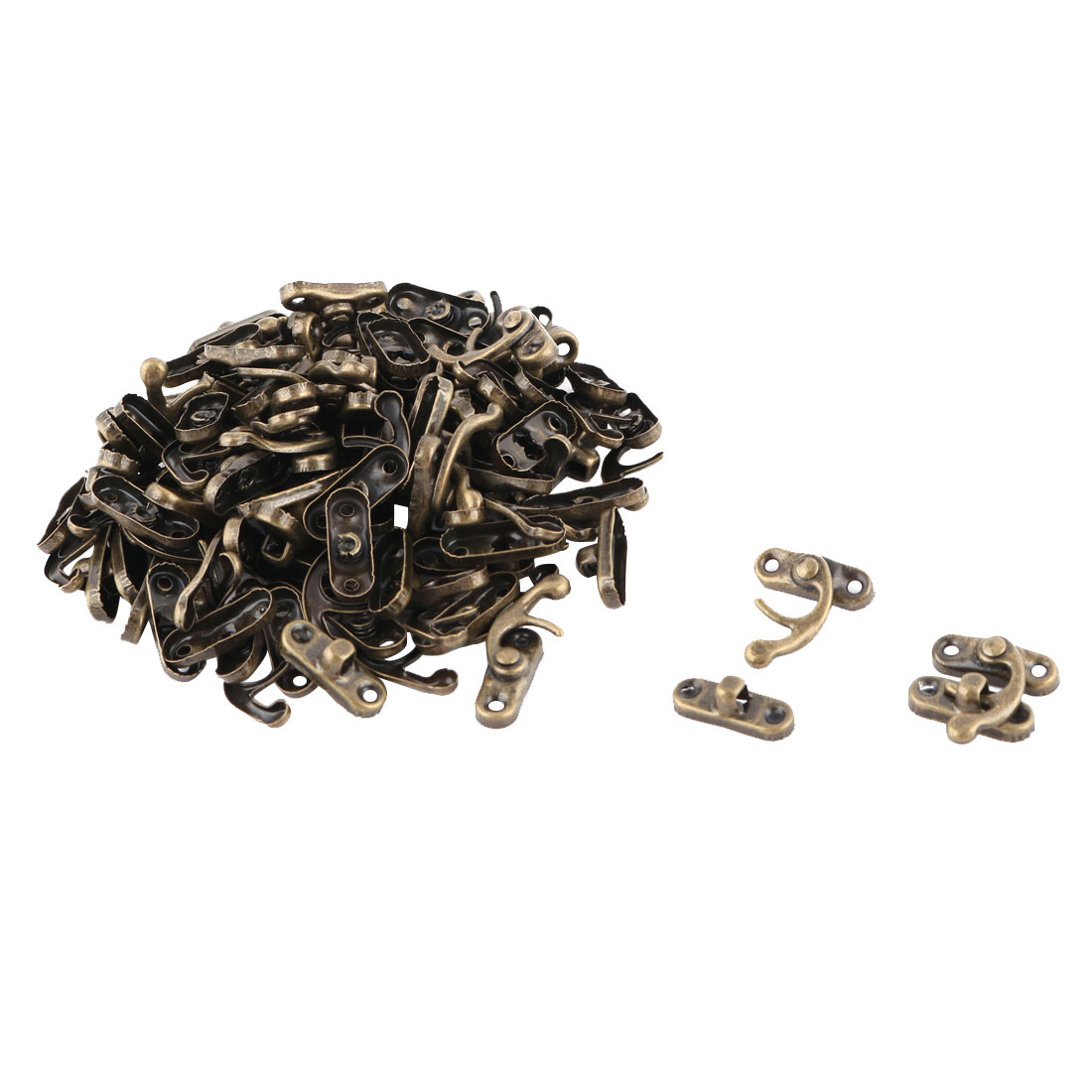 Metal Jewelry Box Bag Closure Hasp Lock Latch Buckle Clasp Bronze Tone 50pcs