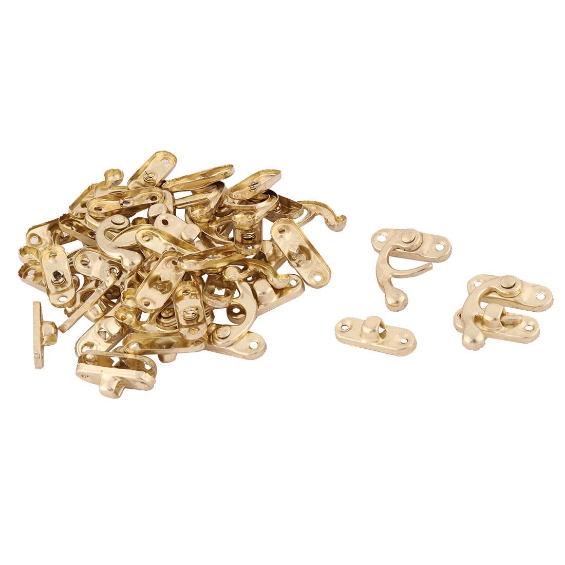 Metal Retro Style Bag Closure Hasp Lock Case Box Latch Buckle Gold Tone 20pcs