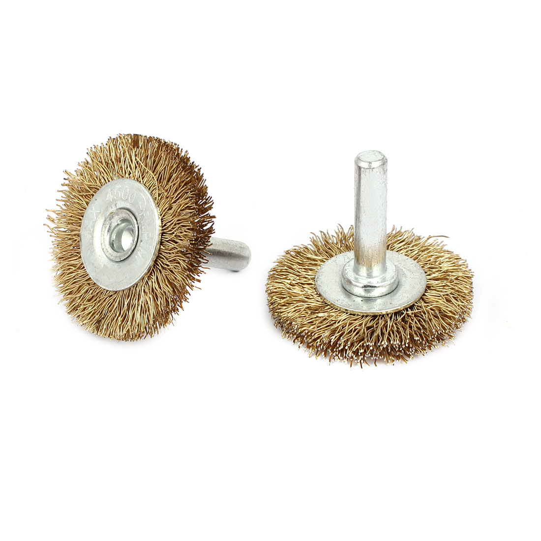 2pcs 6mm Shank 40mm Dia T Shaped Steel Wire Polishing Brush for Rotary Tool