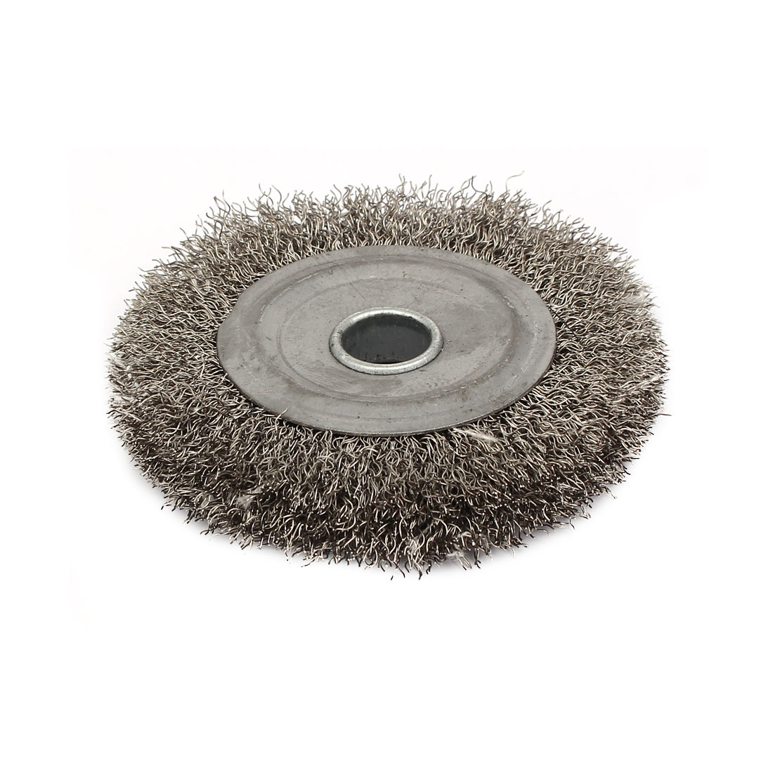 100mm Dia Stainless Steel Wire Polishing Brush Wheel Buffing Tool Silver Tone