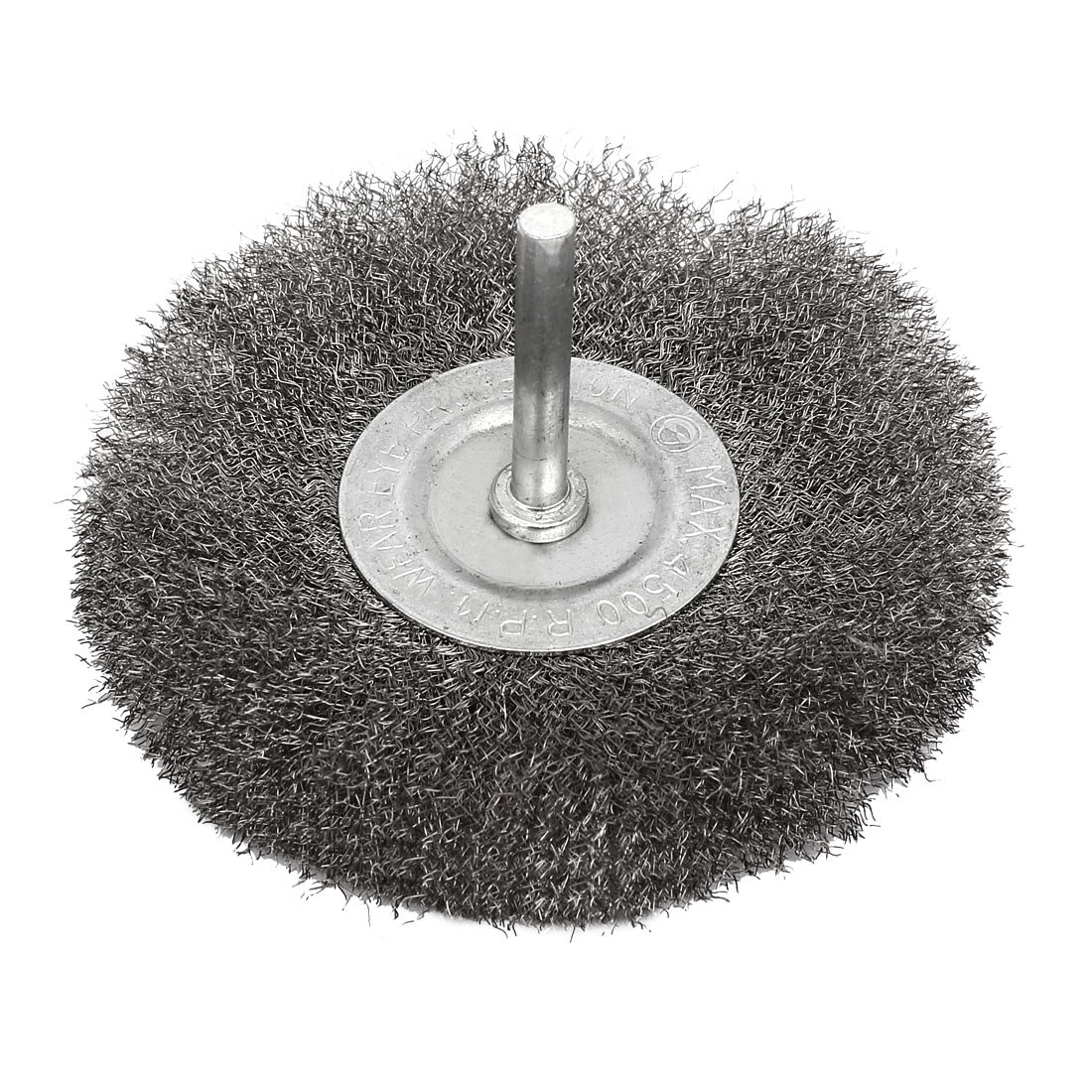 6mmx100mm T Shaped Crimped Wire Wheel Brush Buffing Polishing Tool Silver Tone