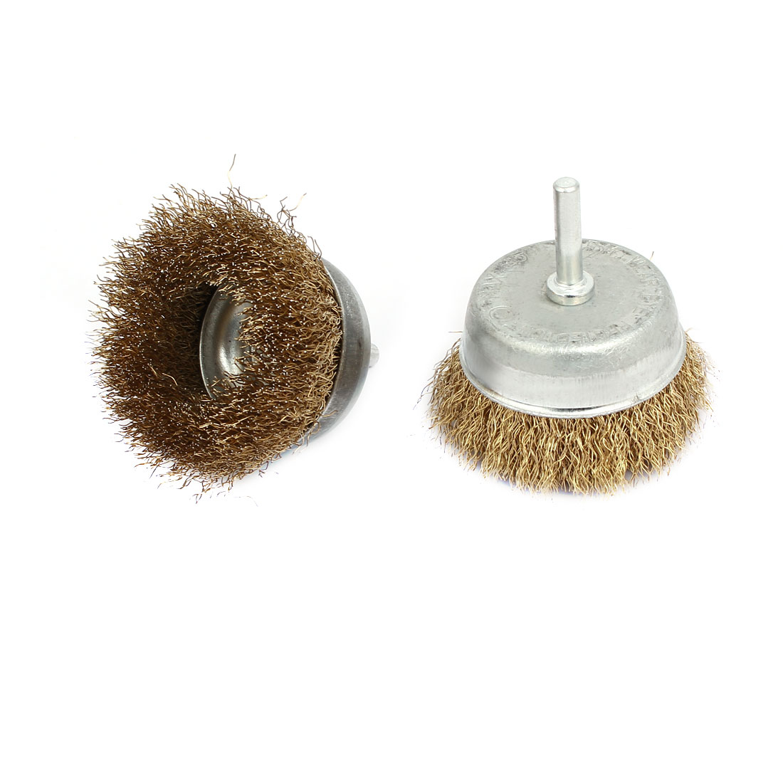 2pcs 6mm Shank 50mm Cup Stainless Steel Wire Polishing Brush for Rotary Tool
