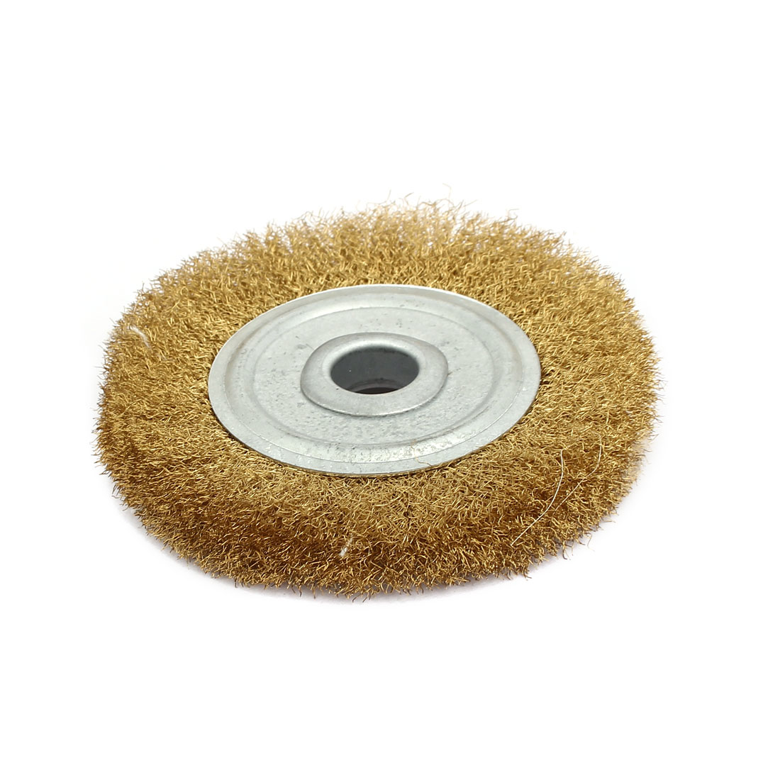 100mm Dia Brass Wire Polishing Brush Wheel Buffing Tool Brass Tone