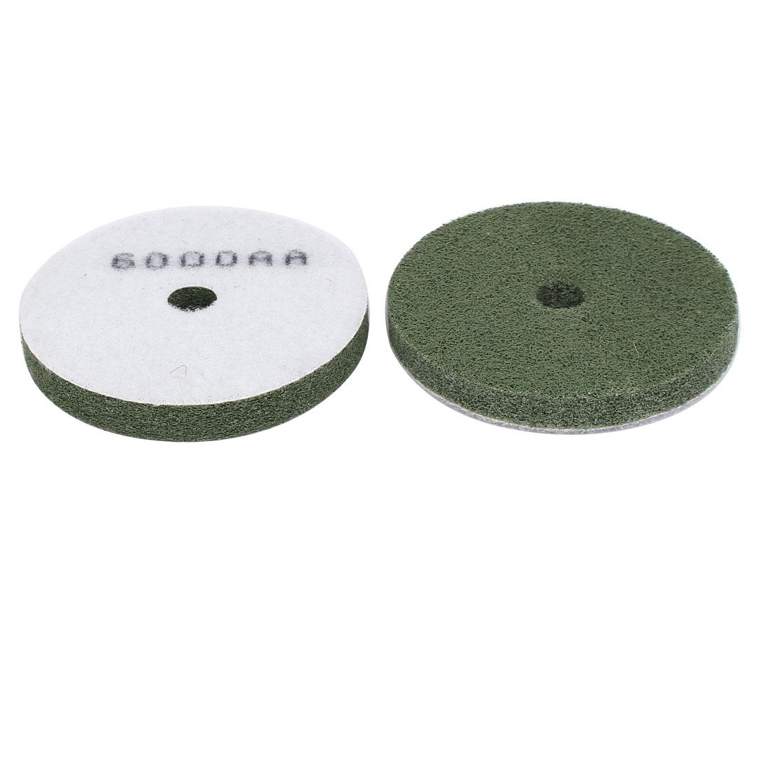 6000 Grits 100mm Outer Dia Concrete Granite Diamond Sponge Polishing Pad 2pcs