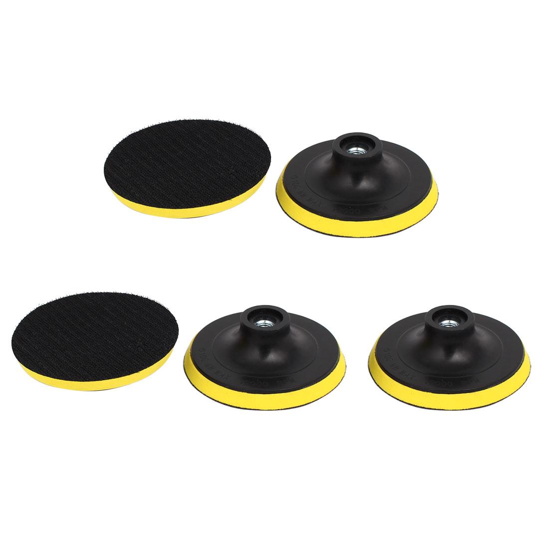 "100mm 4"" Dia M10 Female Thread Sanding Polishing Backer Pad Buffer Wheel 5pcs"