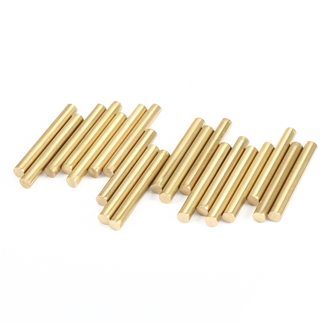 20pcs Brass Round Shaft Rods Axles 3mm x 25mm for RC Toy Car