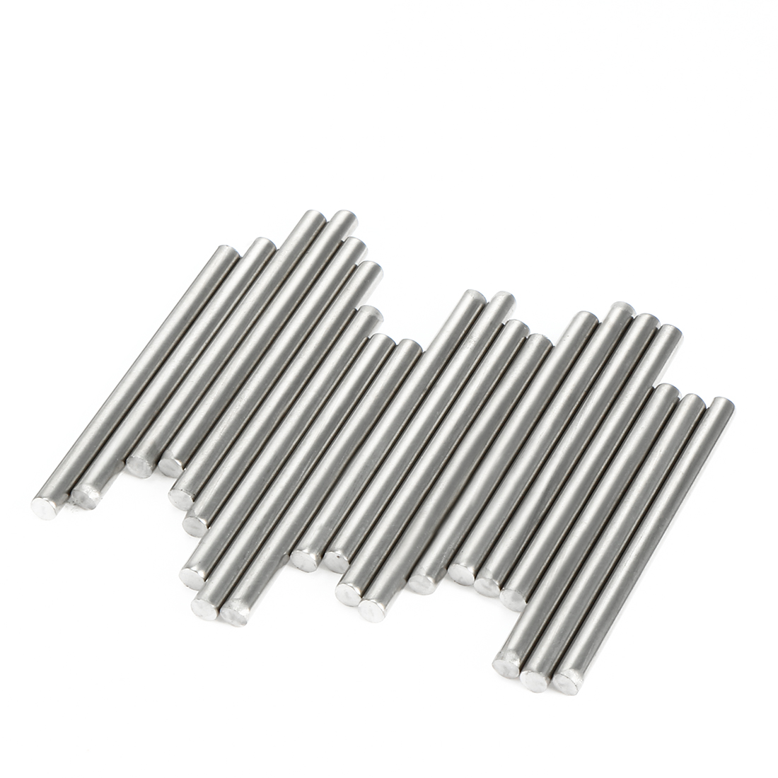 20Pcs Stainless Steel Round Shaft Rods Axles 2mm x 35mm for RC Toy Car