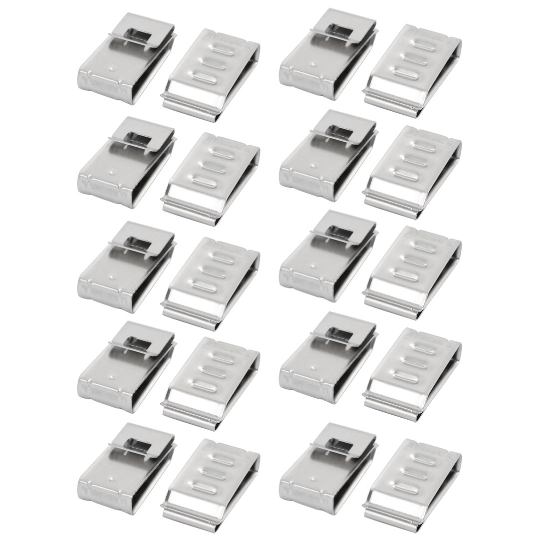 20Pcs Solar Mounting Stainless Steel Flat Cable Clamp Fit for 4 x 5mm Dia Cable