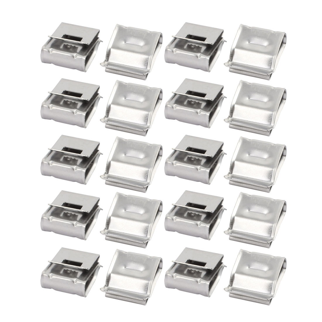 20Pcs Solar Mounting Stainless Steel Flat Cable Clamp Fit for 2 x 5mm Dia Cable