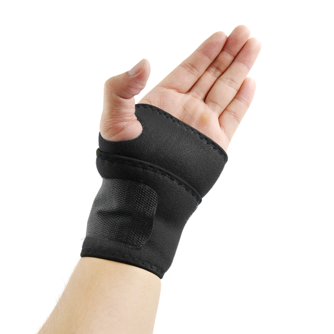 Black Sports Hand Wrist Support Protective Brace Arthritis Sprain Wrapping Band