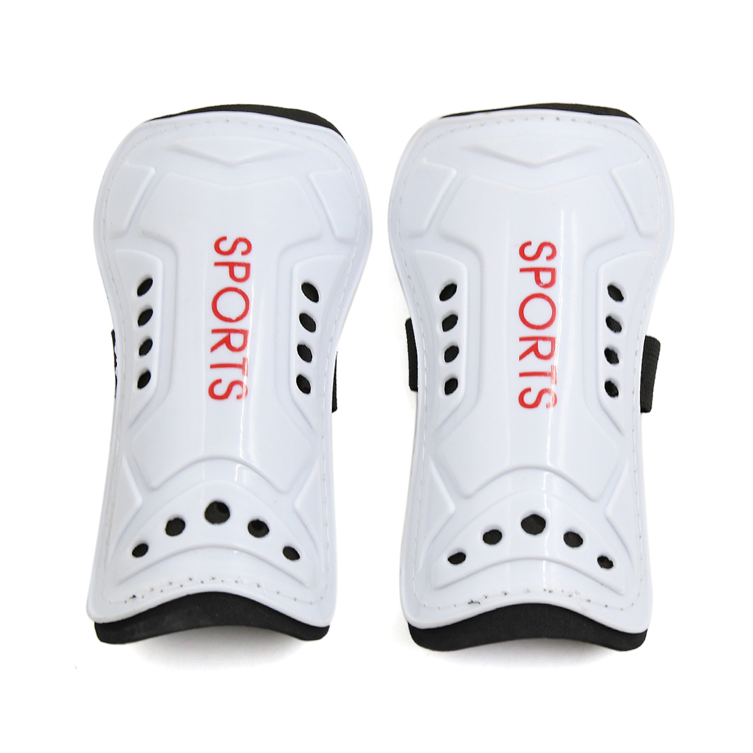 1 Pair White Plastic Foam Football Outdoor Sports Shin Pad Protective Gear Legs Guards