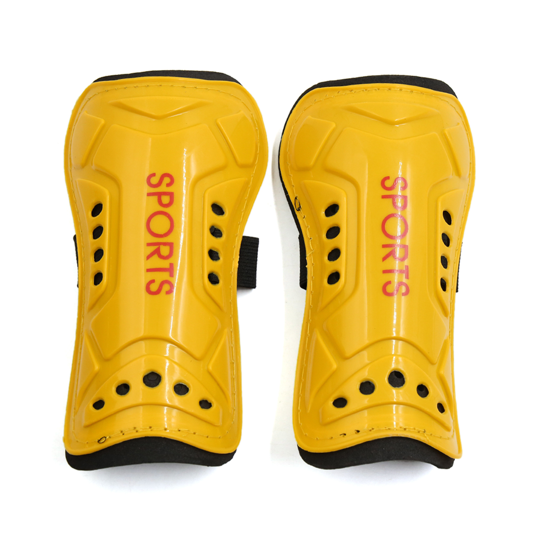 1 Pair Yellow Plastic Foam Football Outdoor Sports Shin Pad Protective Gear Legs Guards