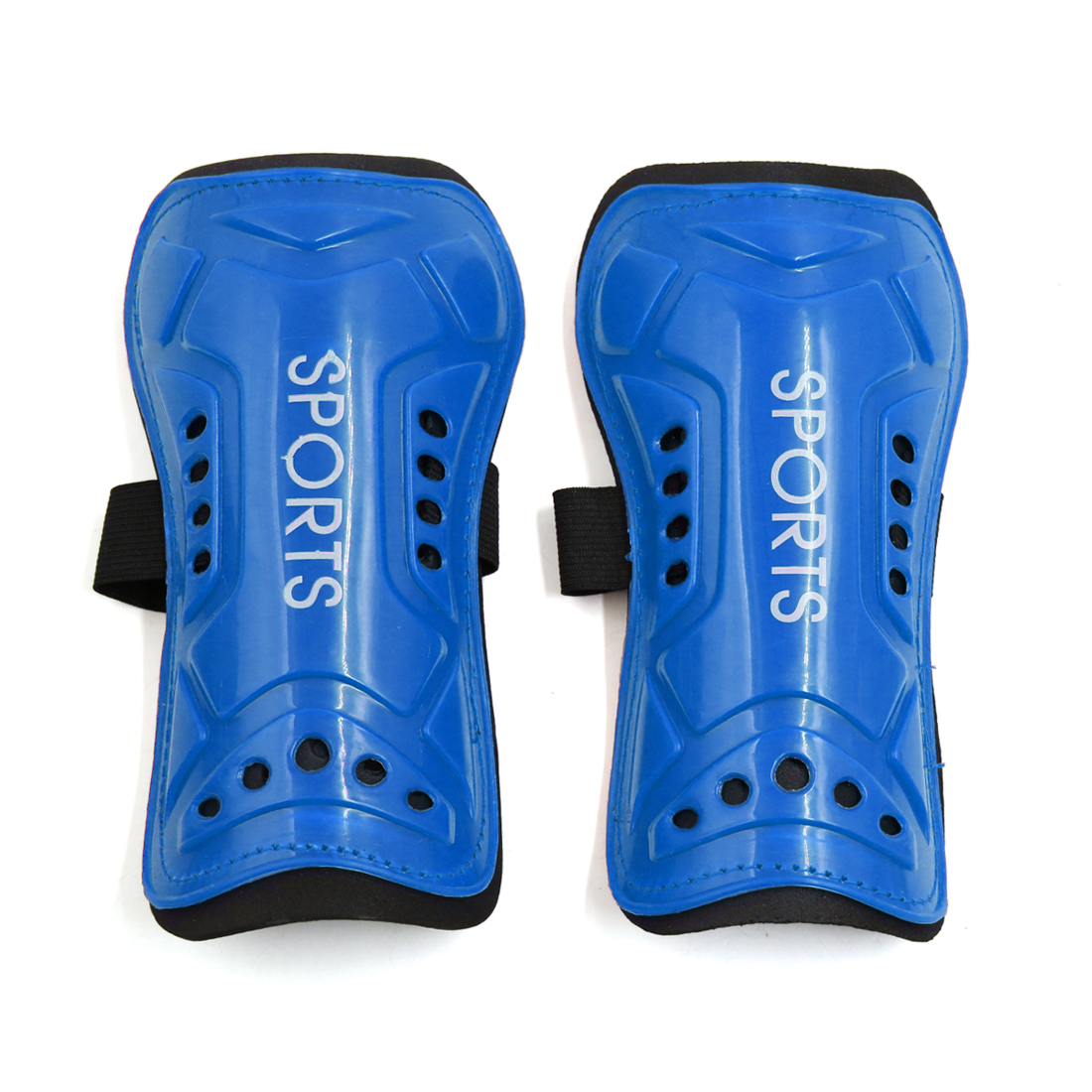 1 Pair Blue Plastic Foam Football Outdoor Sports Shin Pad Protective Gear Legs Guards