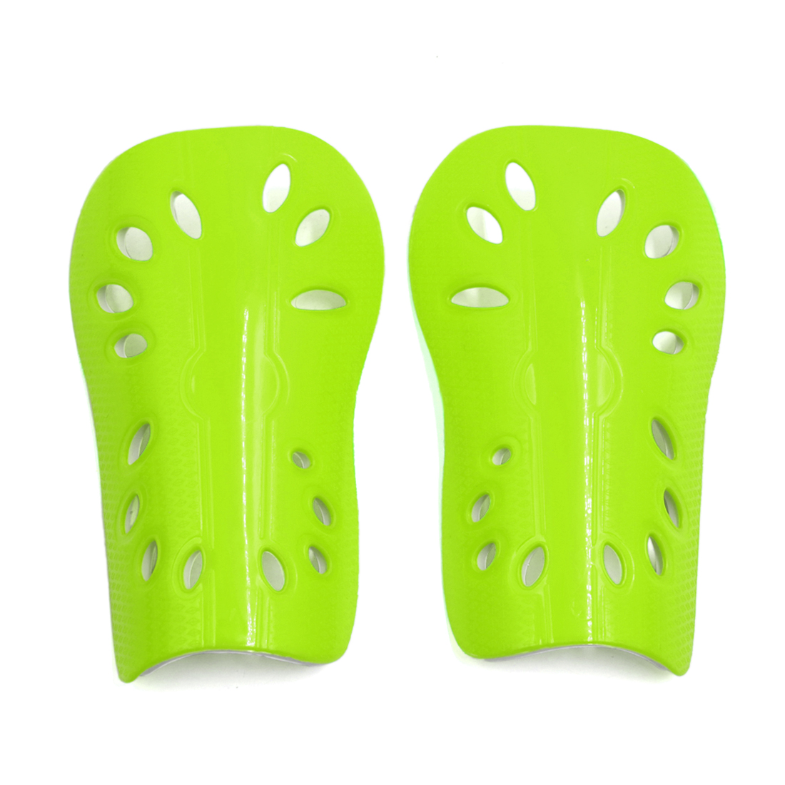 1 Pair Fluorescent Yellow Adult Football Outdoor Sports Shin Pad Protective Gear Legs Guards