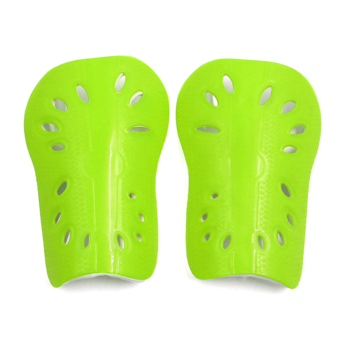 1 Pair Fluorescent Yellow Kids Football Outdoor Sports Shin Pad Protective Gear Legs Guards
