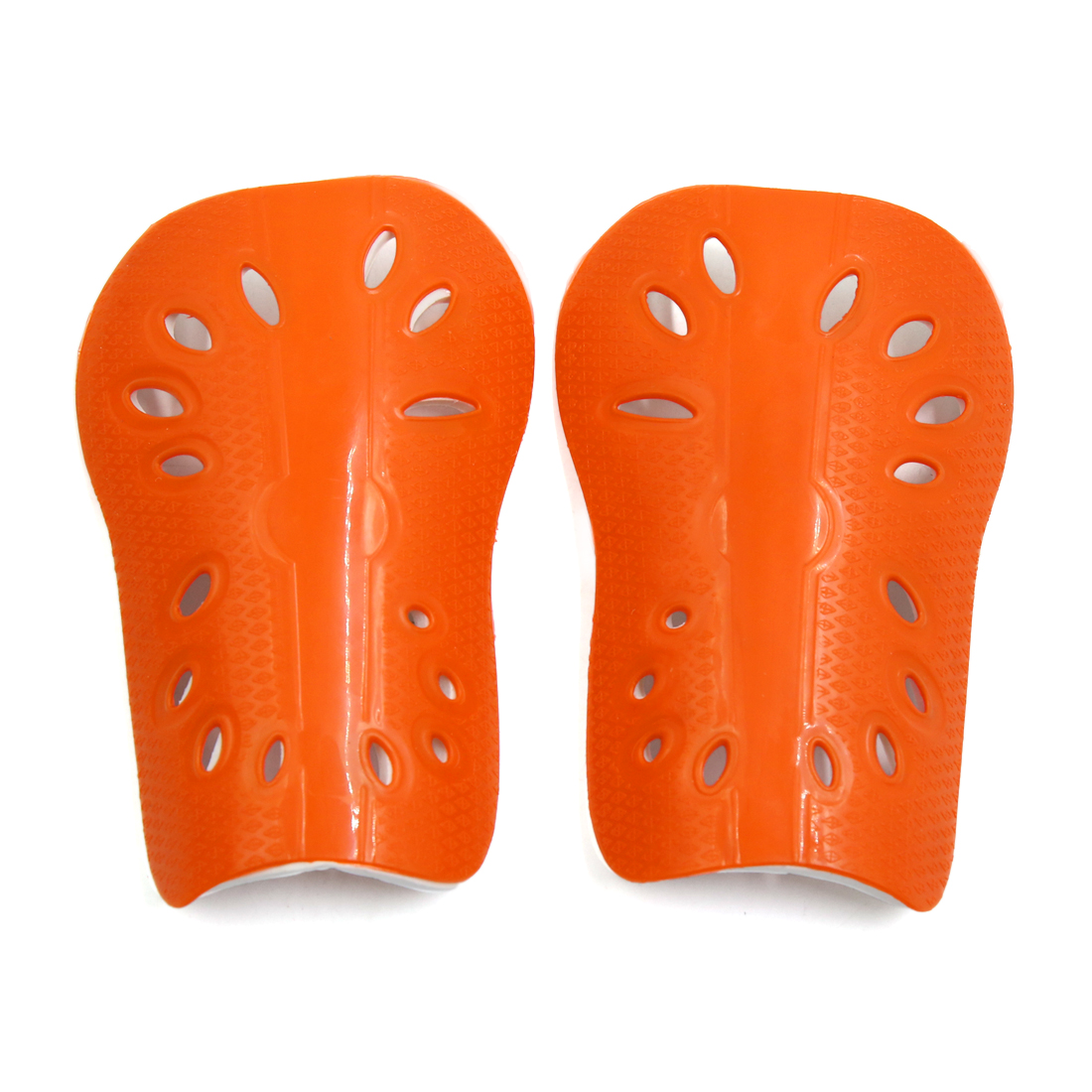 1 Pair Fluorescent Orange Kids Football Outdoor Sports Shin Pad Protective Gear Legs Guards